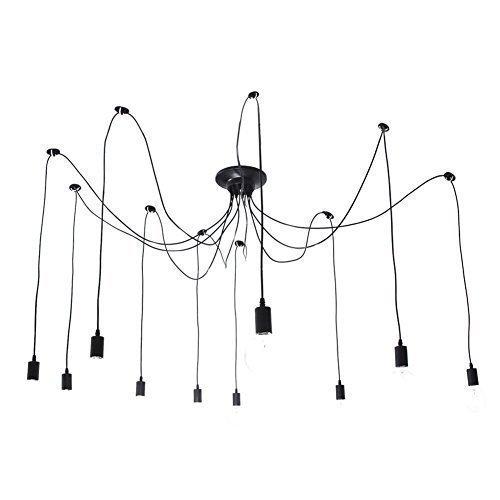 Lightess 10 Lichter Loft Kreative Kronleuchter Antik Klassisch Edison Lampenschirm Mehrere Ajustable DIY Decken Spinne Lampen-Licht-E27 Retro Anhänger Industrie Dining Hall Schlafzimmer Hotel Home Lighting Accessories