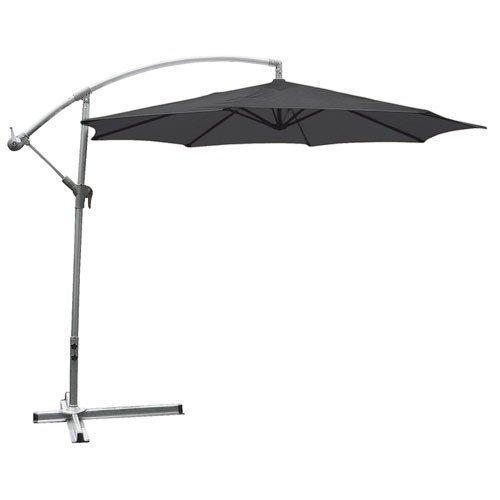 Buri Deluxe-Ampelschirm anthrazit 3m Sonnenschirm Marktschirm Gartenschirm Schirm