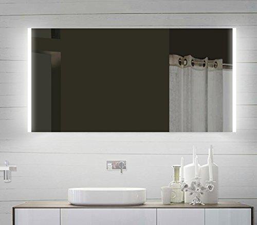 Lux-aqua Design LED Badezimmerspiegel Badspiegel Lichtspiegel mit Led Beleuchtung 120 x 60 cm