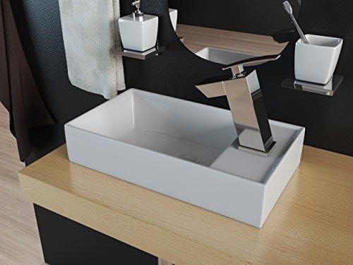 Design Mineralguss Waschbecken Waschtisch Aufsatzwaschbecken Gäste WC KB-M40
