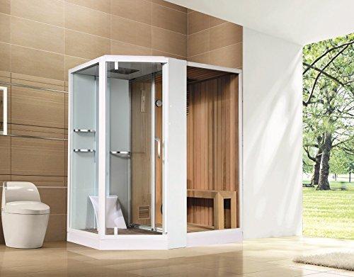 Duschkabine   Dampfdusche   Sauna 180 x 130 cm, Einbauvariante:Rechtseinbau