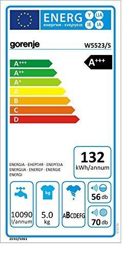 Gorenje W5523/S Waschmaschine FL / A+++ / 5 kg / 1200 UpM / Weiß / Senso Care-Waschsystem / LED Display