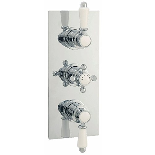 Hudson Reed Duscharmatur Klassik Unterputz Armatur klassische Thermostat Dusche Chrom
