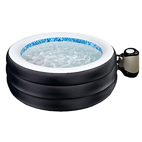 Jilong JL017330NG -P20 Avenli Spa Grand Rapid Klassic, aufblasbarer Whirlpool für 4 Personen, mit Abdeckung und Multi-Pumpe, Durchmesser 178 x 65 cm, schwarz