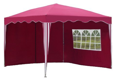 Kronenburg Falt Pavillon Dachmaß 3 x 3 m mit 2 Seitenteilen in Rot