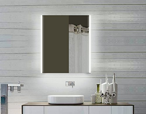 Lux-aqua Alu Badezimmerspiegelschrank mit Beleuchtung LED - LLC60X70