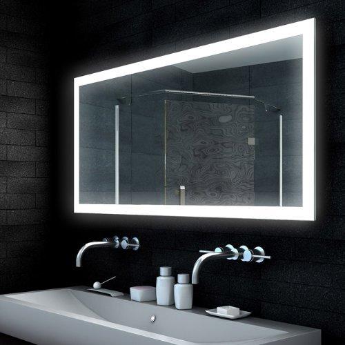 Lux-aqua Design Spiegel Lichtspiegel Badezimmerspiegel LED-Lampe mit 1850 Lumen 140x65 MLD14065