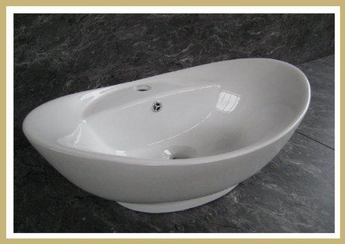 M011 Keramik Aufsatzwaschbecken Aufsatzwaschschale Waschbecken Waschschale
