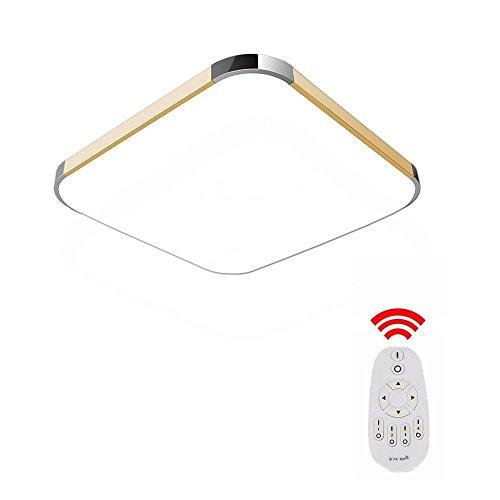 MCTECH 36W Dimmbar LED Deckenleuchte Modern Deckenlampe Flur Wohnzimmer Lampe Schlafzimmer AC 85V-265V Dimmbar Fernbedienung Panel Lampe Badleuchte Wohnzimmer Farbe Golden (Dimmbar)