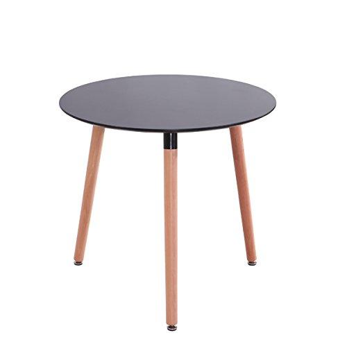 Mdf Inspiration Retro Esstisch Rund 80 Cm Durchmesser Schwarz Tisch