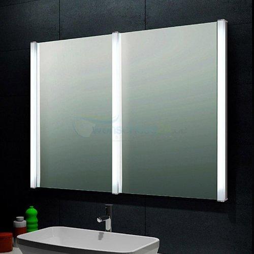 René Bugil Design Doppel-Lichtspiegel Badezimmerspiegel
