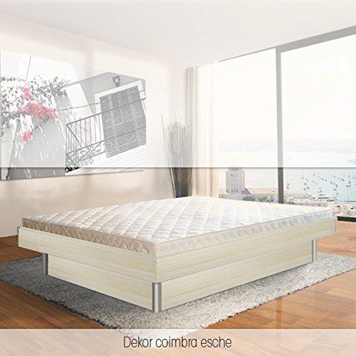 SONDERAKTION bellvita silverline Wasserbett mit Unterbausockel in KOMFORTHÖHE & Bettumrandung inkl. Lieferung & Aufbau durch Fachpersonal, 200cm x 200cm (esche)