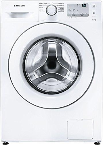 Samsung WW80J3473KWEG Waschmaschine/UpM 8 kg/weiß/Frontlader/A 1400