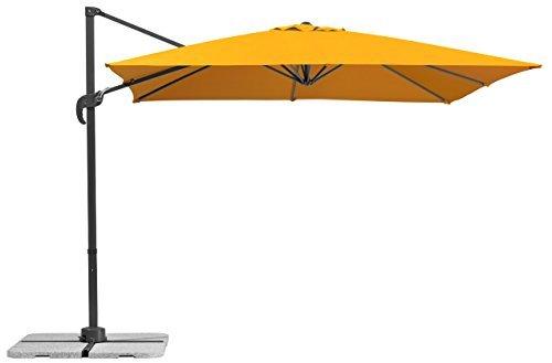 Schneider Sonnenschirm Rhodos Junior, mandarine, 270x270 cm quadratisch, Gestell Aluminium/Stahl, Bespannung Polyester, 18 kg