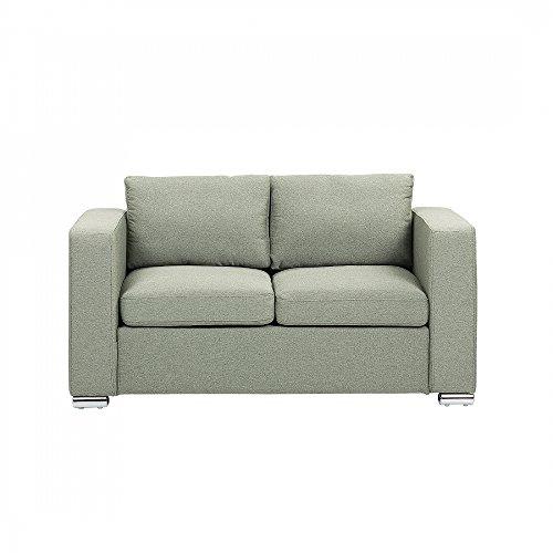 Sofa Olivgrün - Couch - 2-er Sofa - Zweisitzer - Stoffsofa - HELSINKI