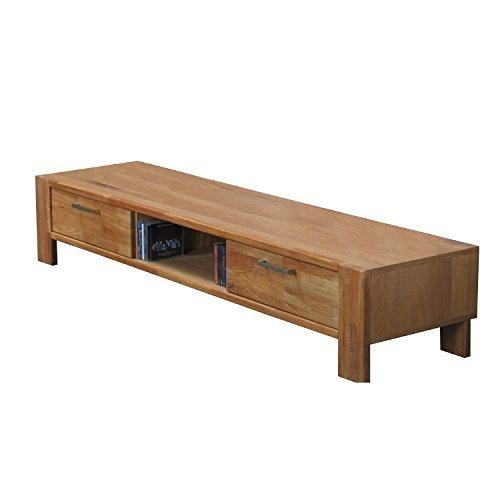TV-Board MARK Hifi Tisch Board Lowboard Phono Schrank Fernsehschrank Kommode Massiv Eiche