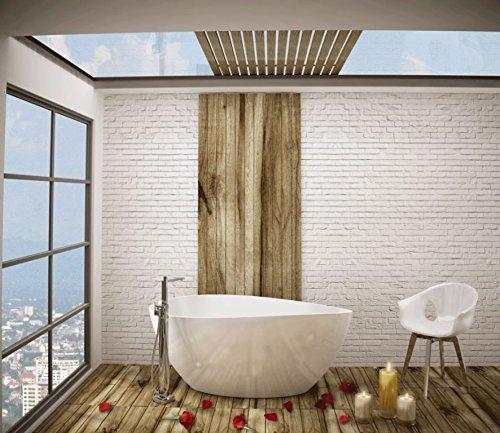 freistehende Badewanne aus Minaralguss 154x80x62 cm weiss Design TRE