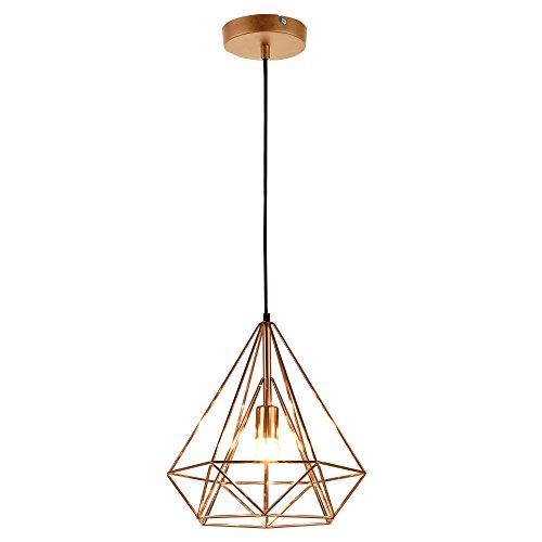 [lux.pro] LED Hängeleuchte Industria - Kupfer / Deckenleuchte (1 x E27 Sockel)(37cm x Ø 40cm) Hängeleuchte / Vintage / Retro Design / Industrial Design (Kupfer)
