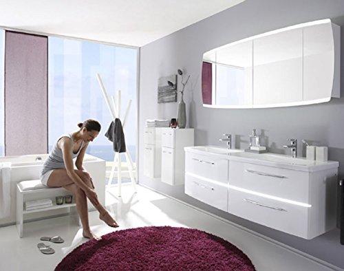 Pelipal Tiva 3 tlg. Badmöbel Set / Waschtisch / Unterschrank / Spiegelschrank