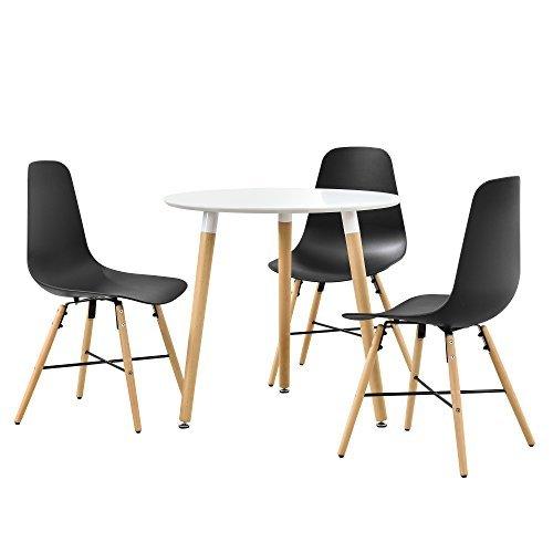 Esstisch mit 3 Design-Stühlen