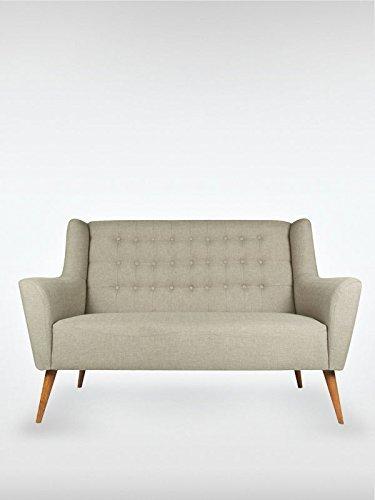 2-Sitzer Vintage Sofa Couch-Garnitur Westhampton grau 150 x 73 x 95