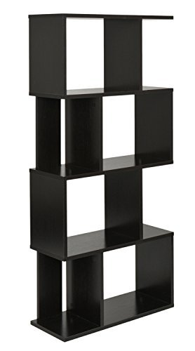 ts-ideen Design Regal Hochregal Standregal Bücherregal CD-Regal Aufbewahrung Holz Walnuss 128,5 x 60 cm