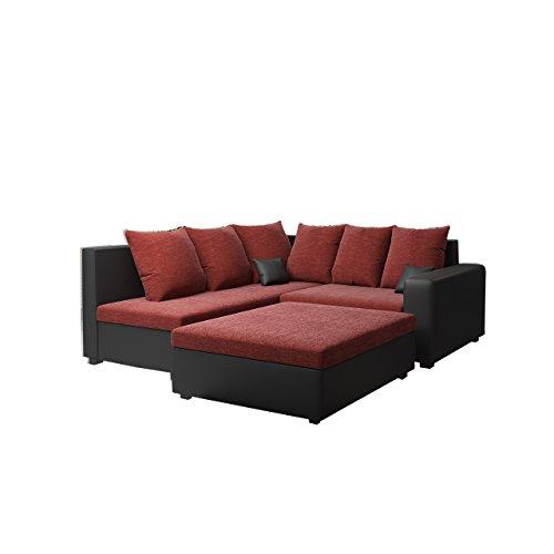 Ecksofa Monari Couch mit Polsterhocker Wohnzimmer Kollektion Eckcoch, Polstersofa, Polstergarnitur, Polstercouch, Farbauswahl
