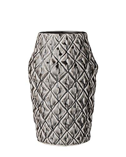 Bloomingville Vase square grau Keramik mit Struktur