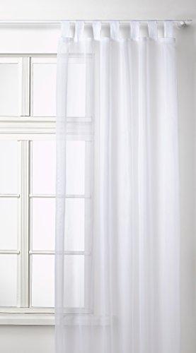 Transparente einfarbige Gardine aus Voile, viele attraktive Farben, 245x140, Weiß, 61000