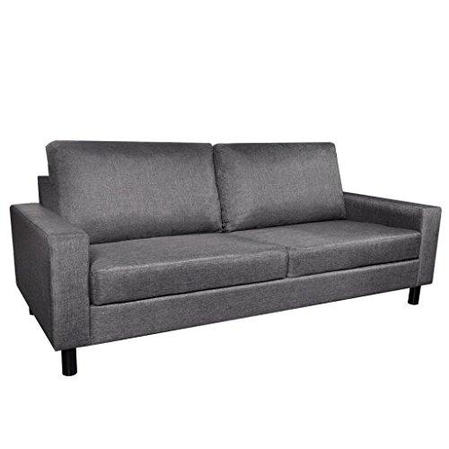vidaXL 3er Sofa Stoffsofa 3-Sitzer Polstersofa Loungesofa Dreisitzer Couch Sitzmöbel