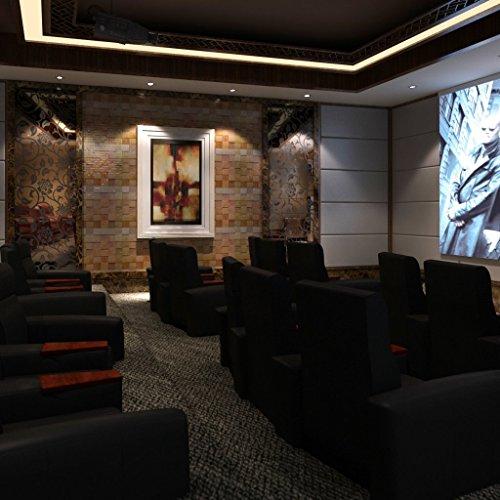 vidaXL 3er Echt Ledersofa Polstersofa Garnitur Sitzgruppe Lounge Couch Sessel Schwarz