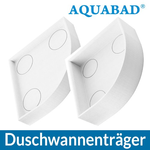 AQUABAD® Universal Duschwannenträger Styroporträger Wannenträger Duschwanne Viertelkreis 80 x 80 x 17 cm R55