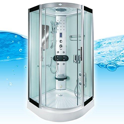 AcquaVapore DTP8046-6002 Dusche Dampfdusche Duschtempel Duschkabine 100x100 XL, EasyClean Versiegelung der Scheiben:2K Scheiben Versiegelung +89.-EUR
