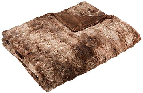 AmazonBasics Faux Fur Throw Blanket, 150 x 200 cm