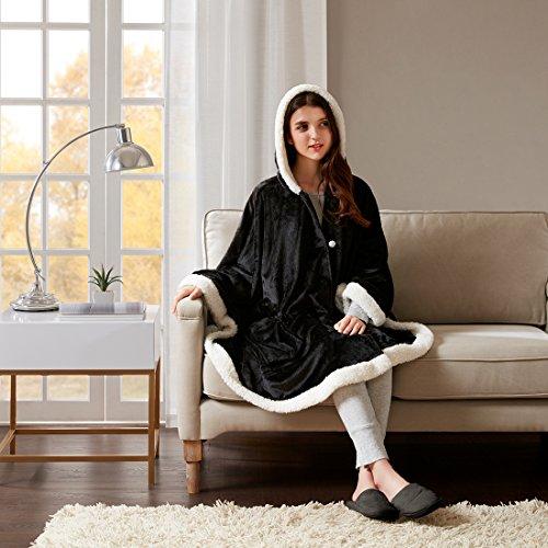 URBAN HABITAT Wohndecke in edlem Uni Design Kuscheldecke Wolldecke Super Weich & Warm Tagesdecke in weiteren Farben und Größen erhältlich