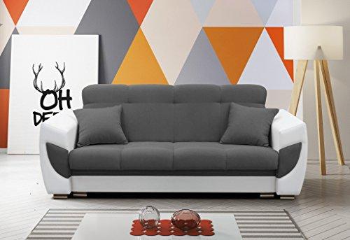 Modernes Sofa Schlafsofa Kippsofa mit Schlaffunktion Klappsofa Bettfunktion mit Bettkasten Couchgarnitur Couch Sofagarnitur 3er AMELIA