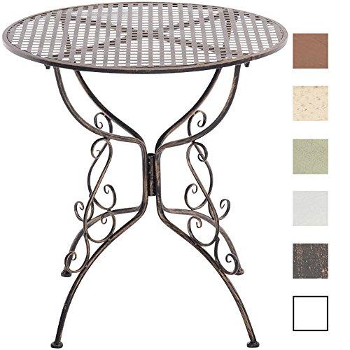CLP Eisentisch AMANDA in nostalgischem Design | Robuster Gartentisch mit kunstvoll verzierten Tischbeinen | In verschiedenen Farben erhältlich