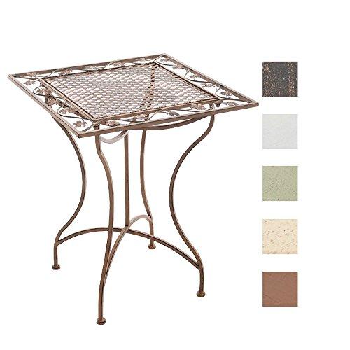 CLP Eisentisch ASINA in nostalgischem Design | Robuster Gartentisch mit kunstvollen Verzierungen | In verschiedenen Farben erhältlich