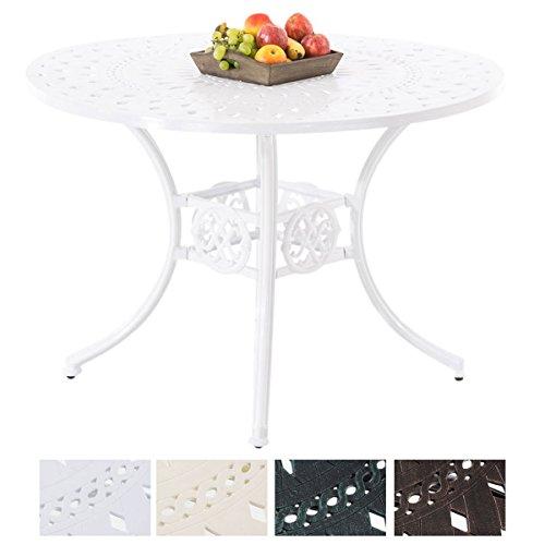 CLP Bistrotisch LAKSHMI in nostalgischem Design | Gartentisch mit geschwungenen Beinen | In verschiedenen Farben erhältlich