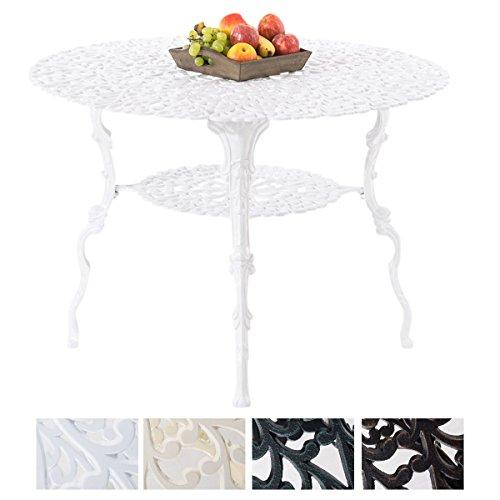 CLP Bistrotisch RUDRA in nostalgischem Design | Gartentisch mit geschwungenen Beinen | In verschiedenen Farben erhältlich