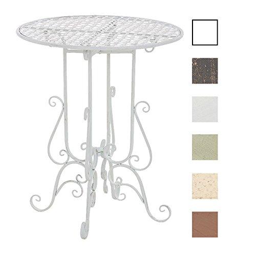 CLP Runder Eisentisch MATIN in nostalgischem Design | Gartentisch mit geschwungenen Beinen | In verschiedenen Farben erhältlich