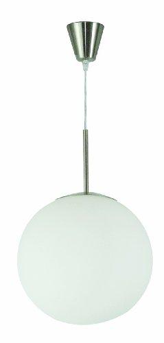 Globo Pendelleuchte Kugel nickel-matt Glas 1 x 60 W, E27 ø 35 cm H: 180 cm 1584