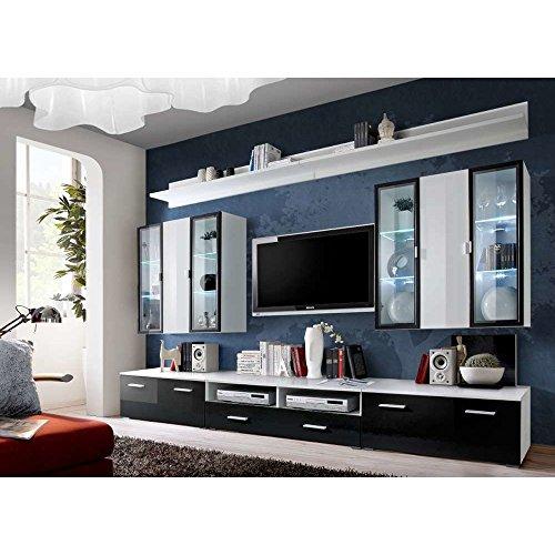 JUSTyou ICALIND Wohnwand Anbauwand Schrankwand (HxBxT): 190x300x45 cm große Farbauswahl