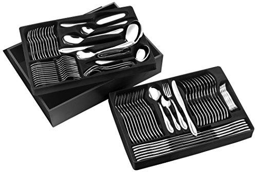 Pradel Excellence D570C Besteck-Set, 84-teilig Miroir in einem Holzkasten mit einer Schublade