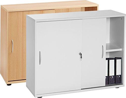 """VCM Sideboard Ordner Schrank Akten Büro Möbel Regal mit Schiebetüren Aktano 470"""" Universalschrank 76 x 100 x 40 cm"""
