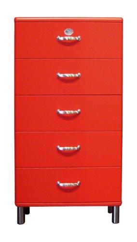tenzo Kommode Malibu 5115 60 x 111 cm in rot Sideboard