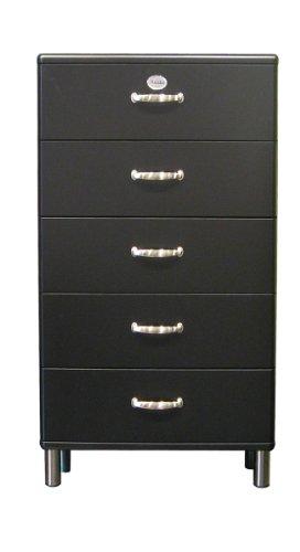 tenzo Kommode Malibu 5115 60 x 111 cm in schwarz Sideboard