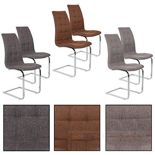 Esszimmerstuhl Freischwinger Stoff Stuhlgruppe Esszimmerstühle Schwingstuhl Set