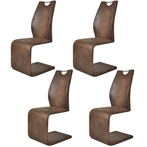 vidaXL 2/4/6 x Esszimmerstuhl Schwingstuhl Freischwinger Schwinger Kunstleder Stühle