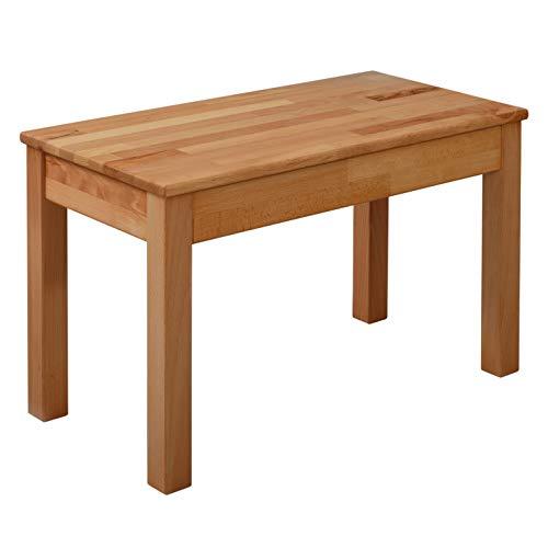 Krokwood Tomas Massivholz Sitzbank in Buche 70 und 100cm FSC100% massiv Holzbank natur geölt  Esszimmerbank 2-Sitzer Küchenbank Einfache Montage Handarbeit Essbank vom Hersteller kostenlose Lieferung